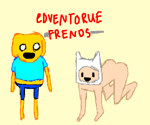 jake the human and finn the dog