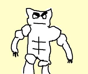 Angry buff kitty