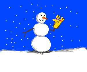 Thanos Snowman