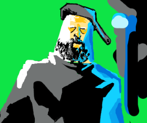 Man with Pan Hat