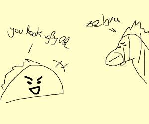 taco bullies zebra