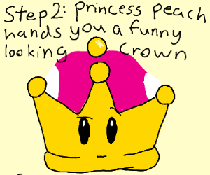 Step 1 Kidnap Princess Peach Drawception