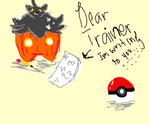 Pumpkin writing to Trainer
