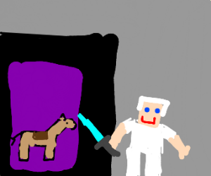 pewdiepie's horse in minecraft