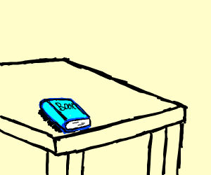 book on a table