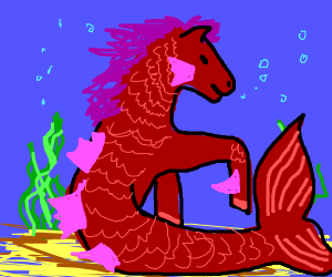 mermaid horse
