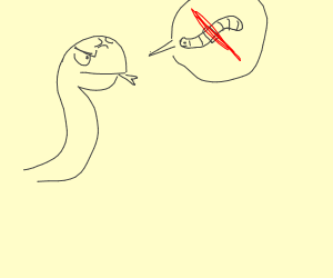 Snail is against worms