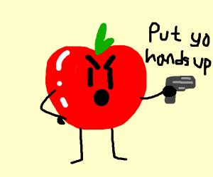 Bad apple has a gun !