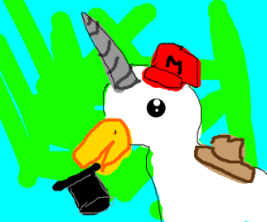 Unicorn Duck with Hats