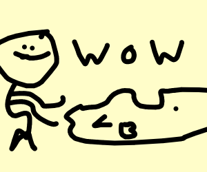 man wows turkey on platter