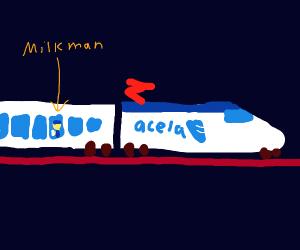 Milkman in a Bullet Train