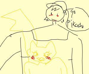 Ash and Pikachu look a bit off... a bit creepy