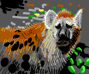 Sad Hyena