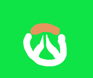 Overwatch Logo on a green background