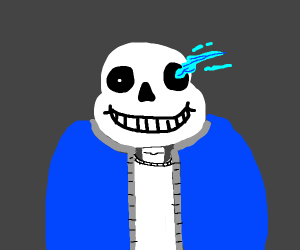 Cantankerous skull is one cool dude