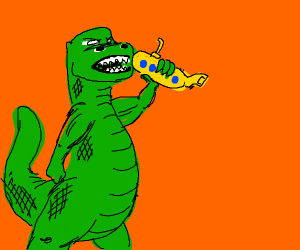 Gozilla eating a submarine