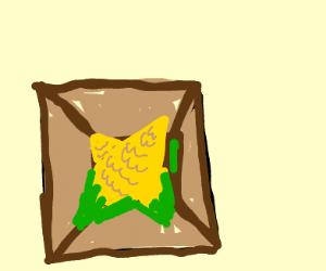 Box with corn