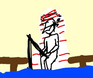 Paper Fisherman