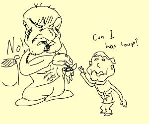 Child wants soup