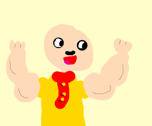 caillou but buff