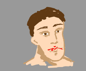 Man with long bottom jaw