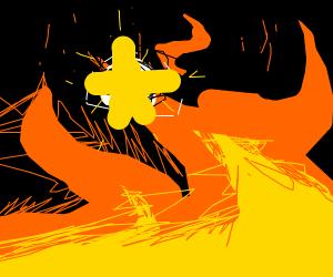 Star in fire