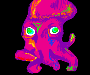 A squid on an acid trip