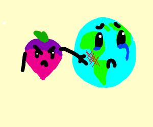 A Radish Slapping The Earth