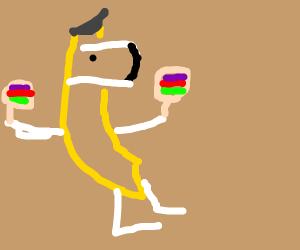 family guy dog in a banana costume