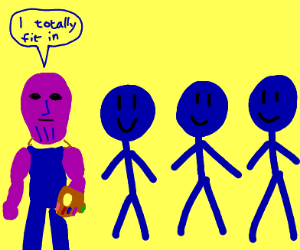 thanos joins the blue man group