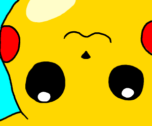upside down pikachu