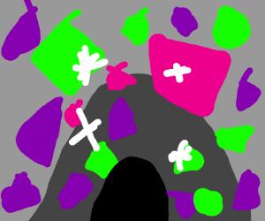 A crystal mine