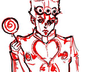 giorno giovanna w/ a lollipop