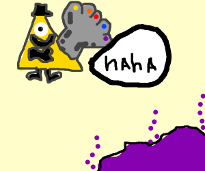 Bill Cipher meets Thanos