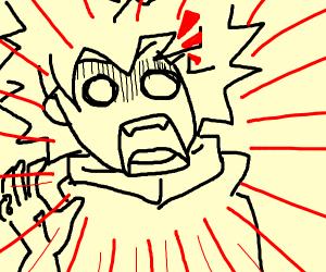 anime man is suprised
