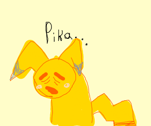 pikachu but depressions finally kicked in