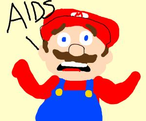 "Mario screaming, ""AIDS"""
