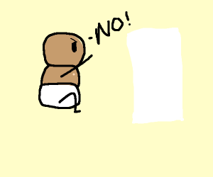Baby hates paper