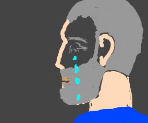 Old depressed dude