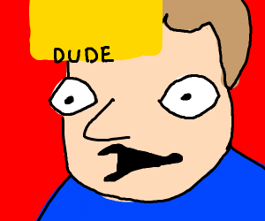 a guy saying dude