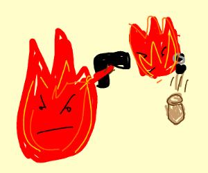 firing fire is fired from fire