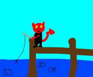 Lucifer fishing