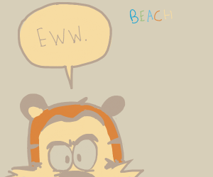 tiger dislikes the beach
