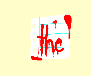 "Yellow hands holding paper with ""the"" on it"