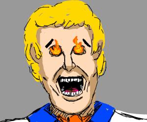 Dead Freddy (Scooby Doo) w/ ascot, fire eyes