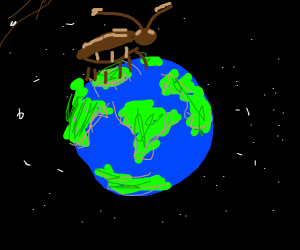Large cockroach is taking over earth