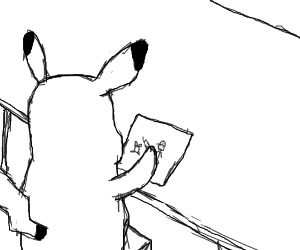 Ash and pikachu (sketch)
