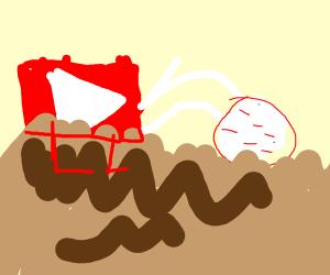 YouTuber planting a Baseball