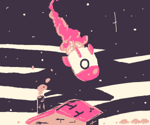 Rocket about too crash