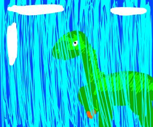 Dinosaur is freezing